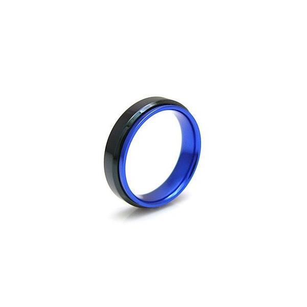 メール便なら送料無料  ステンレスリング 指輪 メンズ レディース ピンク ブラック レッド ブルー sr0102|2pcs|03