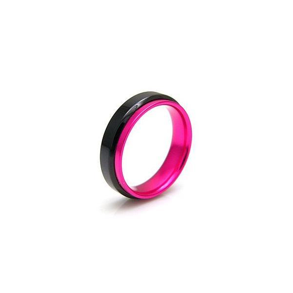 メール便なら送料無料  ステンレスリング 指輪 メンズ レディース ピンク ブラック レッド ブルー sr0102|2pcs|04