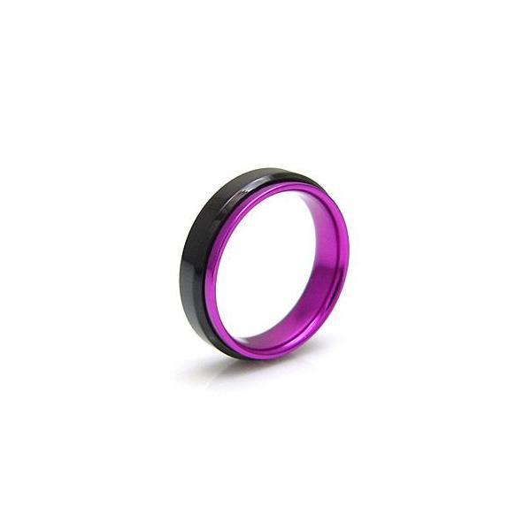 メール便なら送料無料  ステンレスリング 指輪 メンズ レディース ピンク ブラック レッド ブルー sr0102|2pcs|05