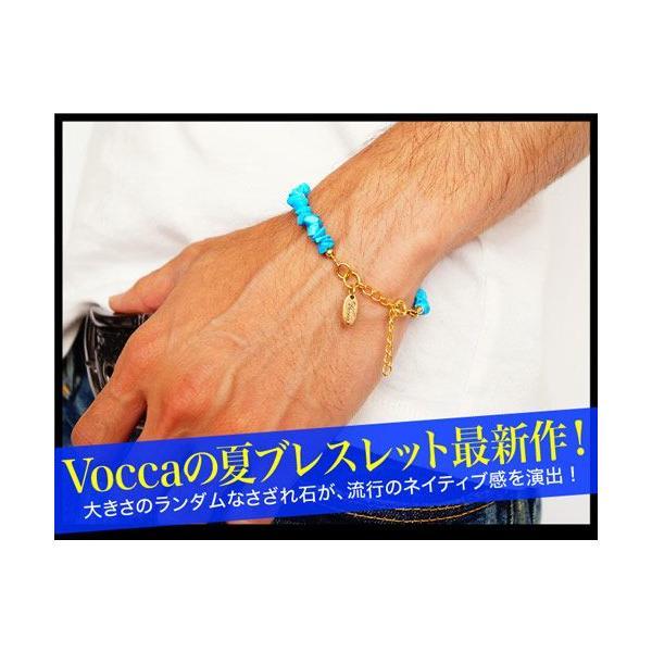 メール便なら送料無料  ブレスレット ターコイズ メンズ レディース ゴールド Vocca vobr0009 腕周り約13.5cm+4cm|2pcs|02