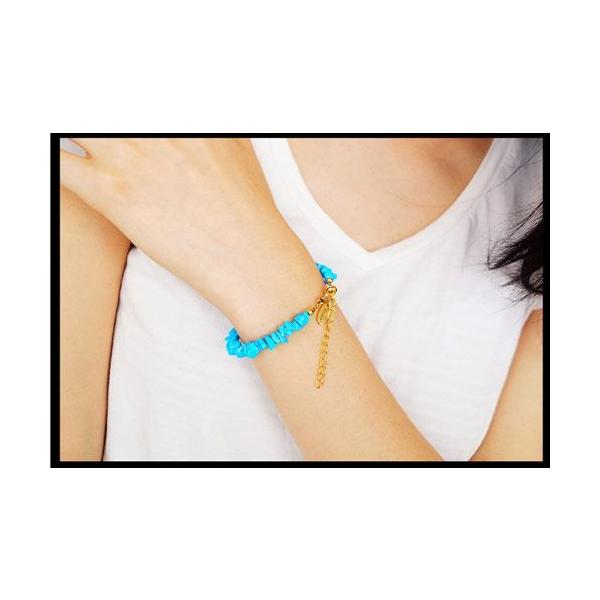 メール便なら送料無料  ブレスレット ターコイズ メンズ レディース ゴールド Vocca vobr0009 腕周り約13.5cm+4cm|2pcs|06
