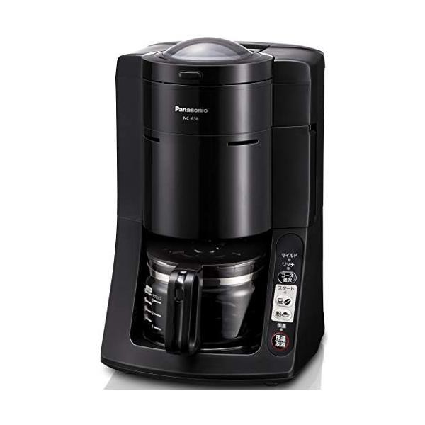 パナソニック 沸騰浄水コーヒーメーカー 全自動タイプ ブラック NC-A56-K 3-sense