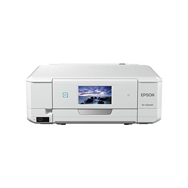 EPSON プリンター インクジェット複合機 カラリオ EP-808AW ホワイト|3-sense