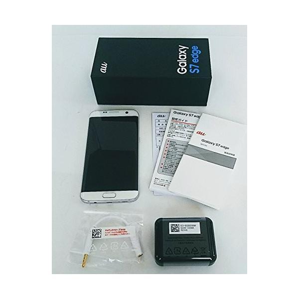 au Galaxy S7 edge SCV33 ホワイト パール 白ロム ギャラクシーS7 エッジ|3-sense