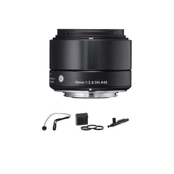 Sigma 19?mm f / 2.8?DNレンズfor Sony・Eマウントカメラ、ブラックwith Ac