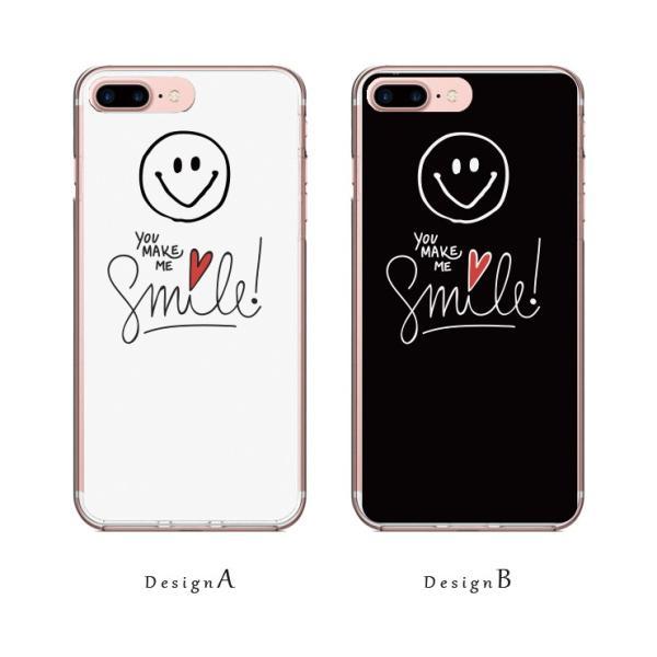 iPhone11 ケース 11Pro iPhoneX/XS XSMax XR ケース iPhone7 ケース「スマイル ニコちゃん にこ 白黒 デニムプリント ペア お揃い カップル」 スマホ 301-shop 02