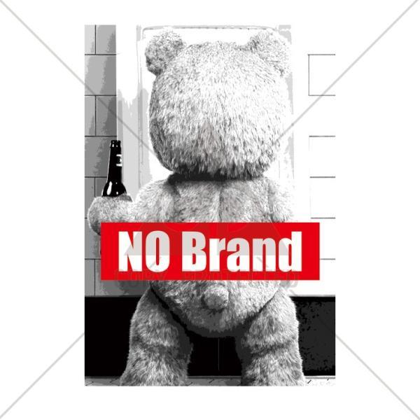 パーカー メンズ レディース スウェット プルオーバー バックプリント おしゃれ NO BRAND Funny Teddy テディベア ted BOXロゴ|301-shop|02