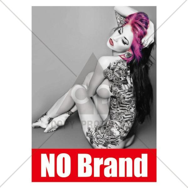 パーカー メンズ レディース スウェット プルオーバー バックプリント おしゃれ NO BRAND Tattoo girls タトゥー sexy BOXロゴ|301-shop|02