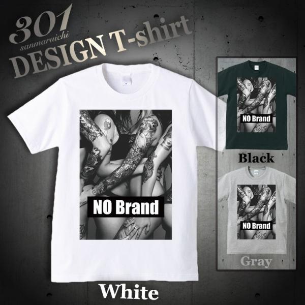 Tシャツ メンズ 半袖 ブランド ユニセックス NO BRAND Tattoo girls タトゥー sexy BOXロゴ NO COMMENT オシャレ  Uネック プリントTシャツ 301-shop