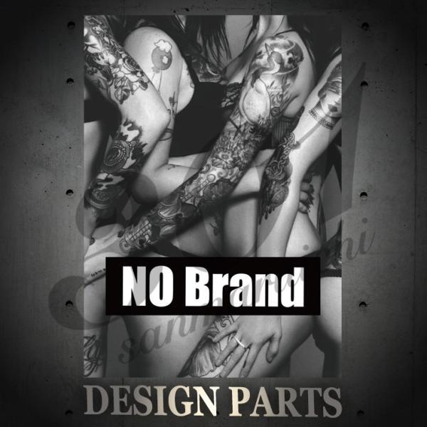 Tシャツ メンズ 半袖 ブランド ユニセックス NO BRAND Tattoo girls タトゥー sexy BOXロゴ NO COMMENT オシャレ  Uネック プリントTシャツ 301-shop 02