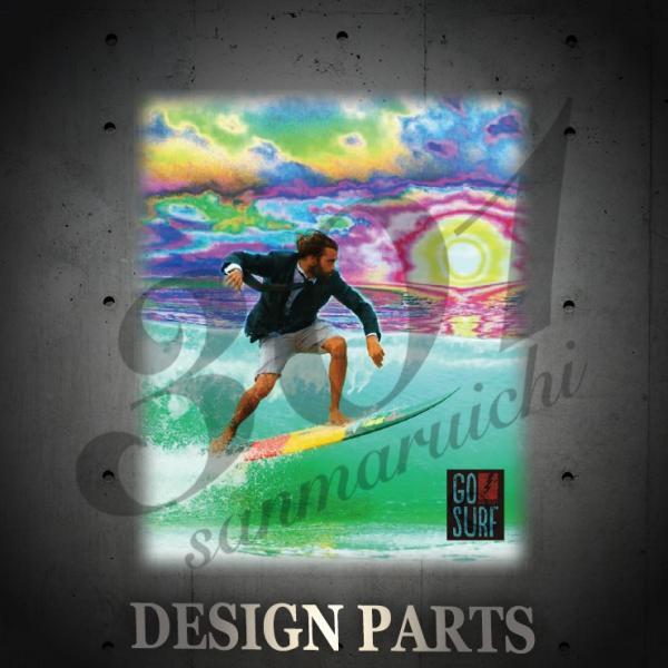 Tシャツ メンズ 半袖 ブランド ユニセックス GO SURF サイケデリックサン サーフ サーフィン Hawaii ハワイ Uネック プリントTシャツ|301-shop|02