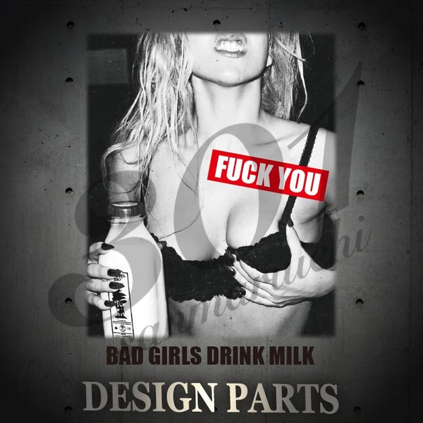 Tシャツ 半袖 メンズ 2019 新作 UNISEX FUCK YOU ファック BAD GIRLS milk ミルク sexy セクシークルーネック Uネック プリントTシャツ|301-shop|02