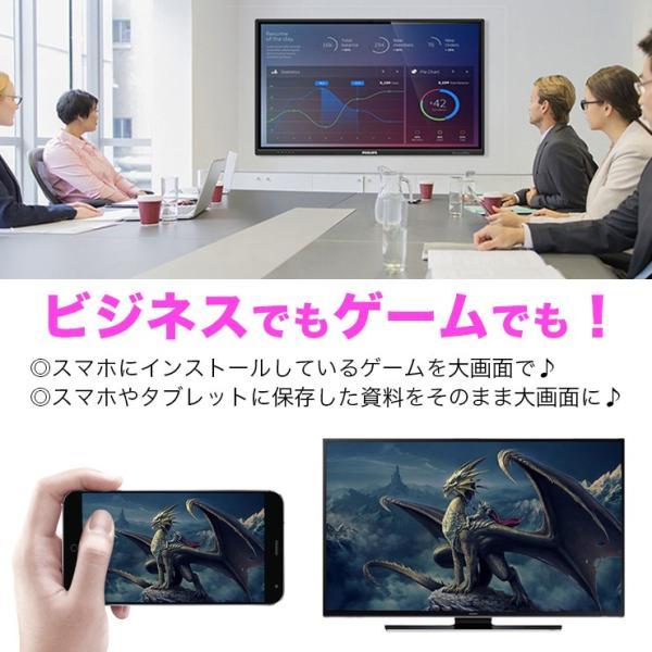 HDMI ワイヤレス レシーバー Wi-Fi iPhone android PC パソコン テレビ TV モニター スマホ 転送 テレビ で見る 高解像度 1080P|301-shop|03