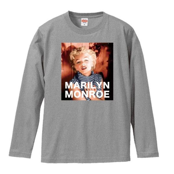 Tシャツ メンズ ロンT 長袖 ユニセックス クルーネック Uネック マリリンモンロー レトロ おしゃれ|301-shop|03