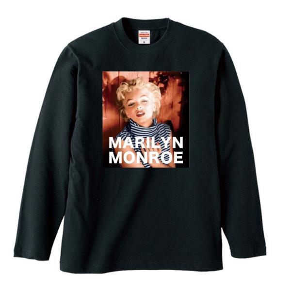 Tシャツ メンズ ロンT 長袖 ユニセックス クルーネック Uネック マリリンモンロー レトロ おしゃれ|301-shop|04