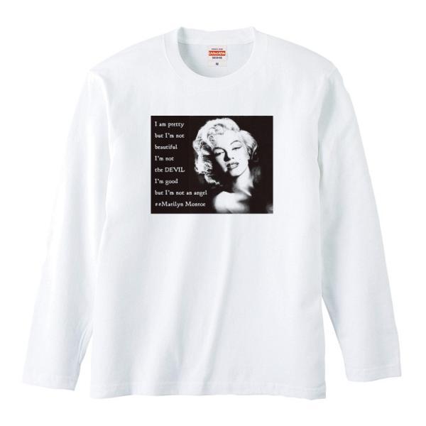 Tシャツ メンズ ロンT 長袖 ユニセックス クルーネック Uネック マリリンモンロー 海外 セレブ 301-shop 02