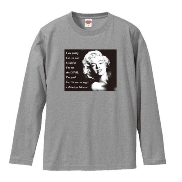 Tシャツ メンズ ロンT 長袖 ユニセックス クルーネック Uネック マリリンモンロー 海外 セレブ 301-shop 03