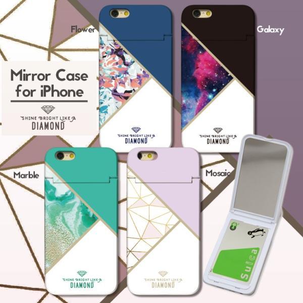 fe31b05a9c スマホケース アイフォン8 ケース iPhone XR X XS Max ケース 鏡付き ICカード収納 ミラー ...