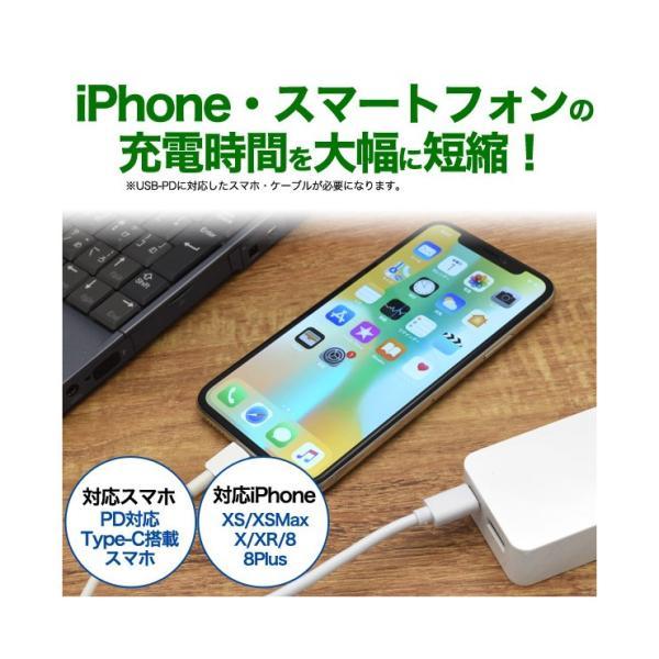 スマホ充電器 USB Type-C搭載 ACアダプター USB充電器 最大2.4A 2台同時充電 Type-C搭載 スマホ タブレット用充電器 急速充電器 301-shop 03