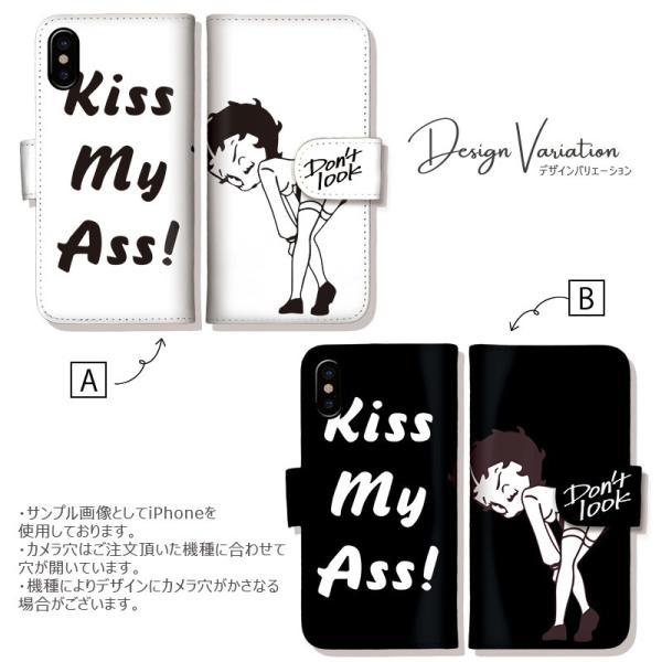 iPhone11 ケース 手帳型 横 アイフォン8 ケース iPhone11pro max kiss my ass Betty Boop betty ベティ ベティーちゃん おしゃれ 可愛い 手帳ケース|301-shop|02