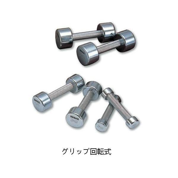 NISHI ニシ・スポーツユニットダンベル グリップ回転式 20 kg ×2個セット T2915