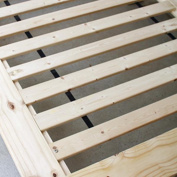ベッドフレーム ベット セミダブル W123 無垢材(パイン材) ヘッドレス すのこベッド 北欧 シンプル ナチュラル MTS-098|3244p|11