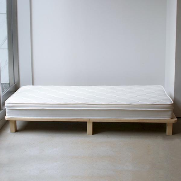 ベッドフレーム ベット セミダブル W123 無垢材(パイン材) ヘッドレス すのこベッド 北欧 シンプル ナチュラル MTS-098|3244p|12
