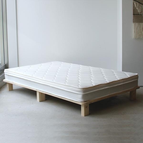 ベッドフレーム ベット セミダブル W123 無垢材(パイン材) ヘッドレス すのこベッド 北欧 シンプル ナチュラル MTS-098|3244p|13