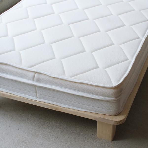ベッドフレーム ベット セミダブル W123 無垢材(パイン材) ヘッドレス すのこベッド 北欧 シンプル ナチュラル MTS-098|3244p|14