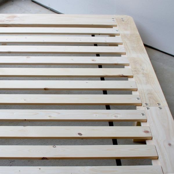 ベッドフレーム ベット セミダブル W123 無垢材(パイン材) ヘッドレス すのこベッド 北欧 シンプル ナチュラル MTS-098|3244p|08