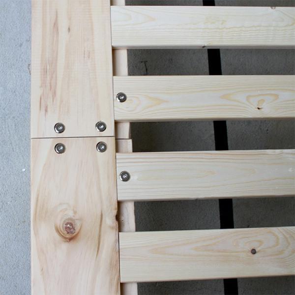 ベッドフレーム ベット セミダブル W123 無垢材(パイン材) ヘッドレス すのこベッド 北欧 シンプル ナチュラル MTS-098|3244p|09