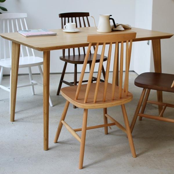 ダイニングチェア 椅子 いす チェア CL-311 NA BK WH BR MIX 北欧 木脚 木製 いす イス 完成品|3244p|04