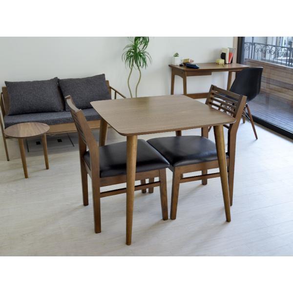 ダイニングテーブル トムテ 2名用 木製 TAC-241WAL 75cm 東谷(azumaya)  tomte|3244p|02