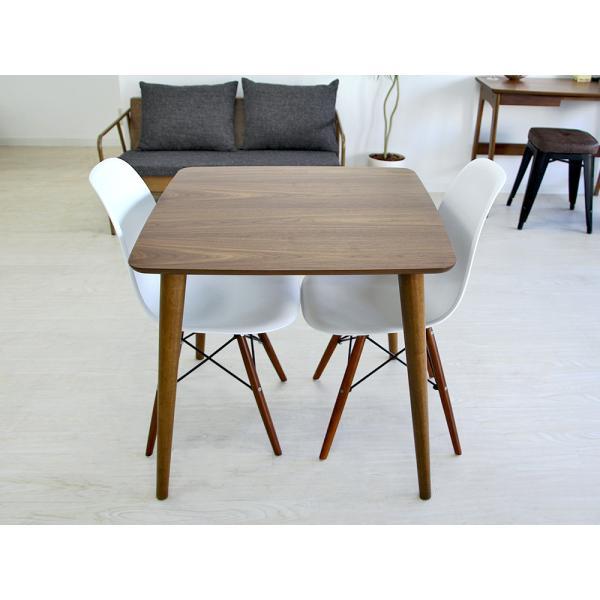 ダイニングテーブル トムテ 2名用 木製 TAC-241WAL 75cm 東谷(azumaya)  tomte|3244p|05