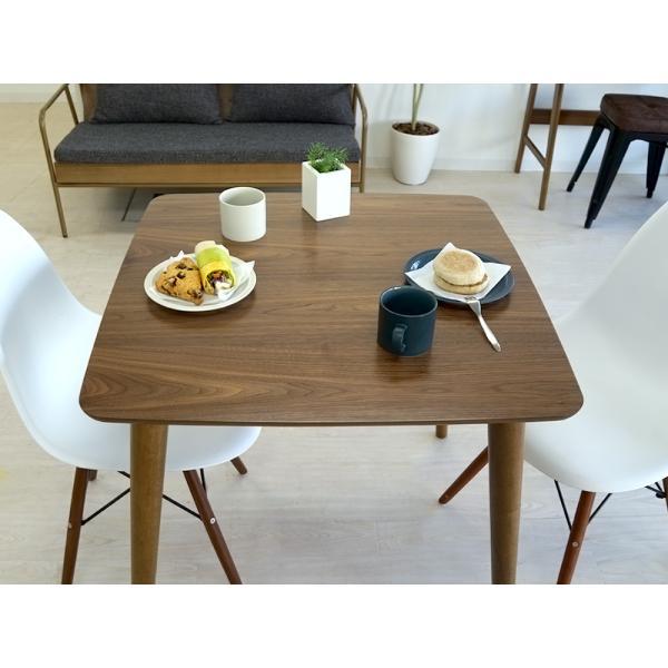 ダイニングテーブル トムテ 2名用 木製 TAC-241WAL 75cm 東谷(azumaya)  tomte|3244p|09