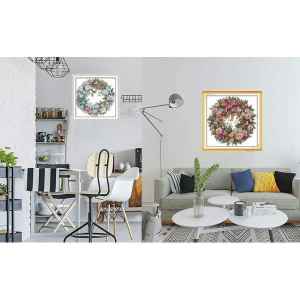 クロスステッチ 刺繍キット 花鳥の幸運 11ct図案印刷 初心者 簡単 刺繍 送料無料 指ぬき 糸通し付き|34618|10
