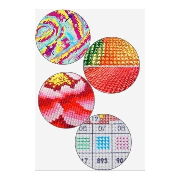 クロスステッチ 刺繍キット 花卉3点セット 初心者 簡単 刺繍 送料無料 指ぬき 糸通し付き|34618|09