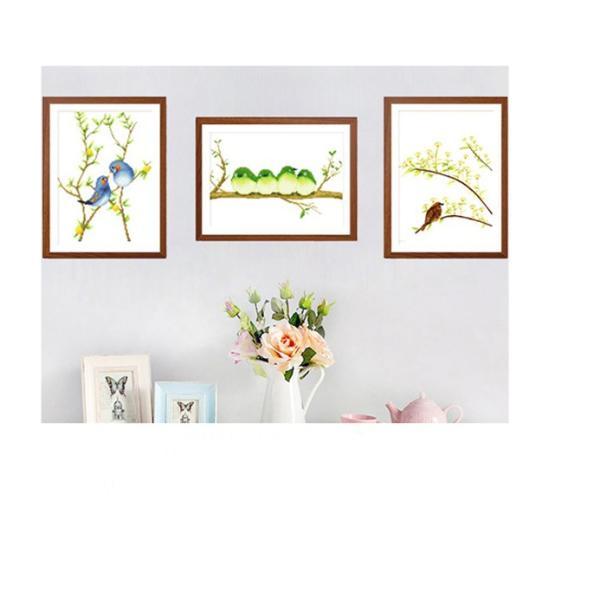 クロスステッチ 刺繍キット 鳥の花  3枚セット   初心者 簡単 刺繍 送料無料|34618|03
