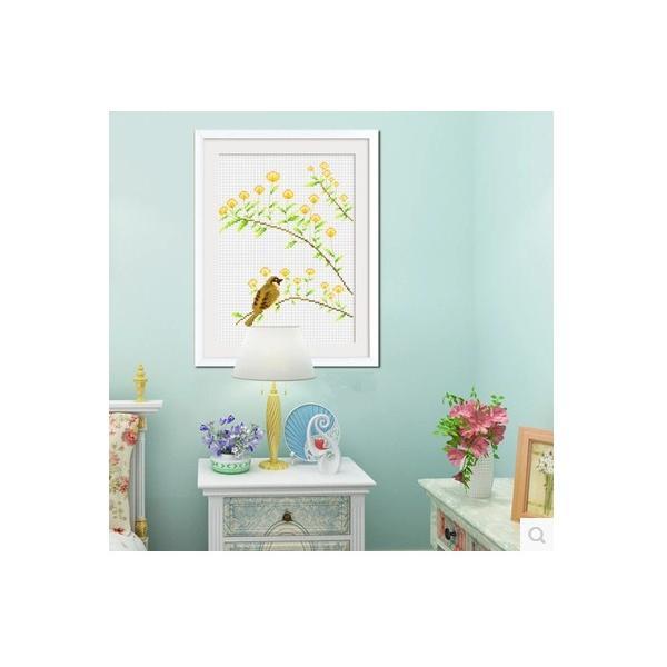 クロスステッチ 刺繍キット 鳥の花  3枚セット   初心者 簡単 刺繍 送料無料|34618|07