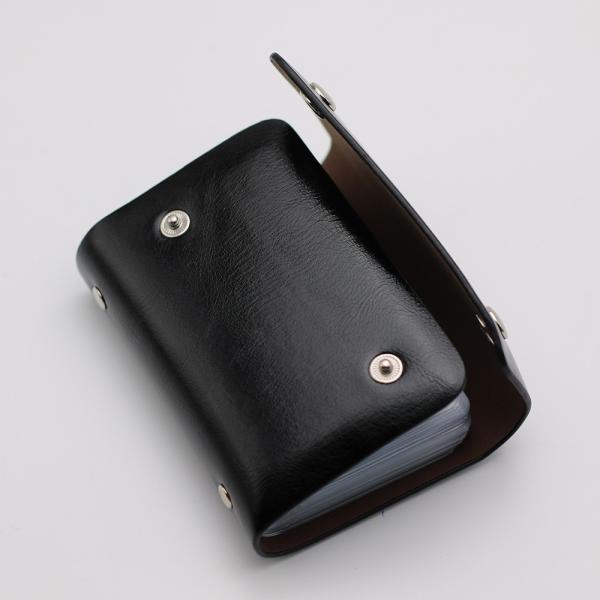 カードケース ポイント消化 送料無料 全九色 24ポケット ホルダー ファイル クレジットカード ポイントカード スタンプ 収納 整理|34618|02