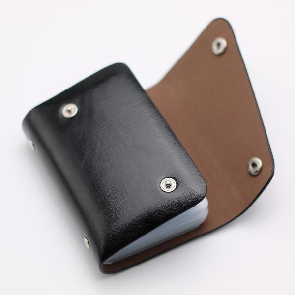 カードケース 20枚収納 全9色 磁気防止 レザー スリム カード入れ 男女兼用 kk1816|34618|04