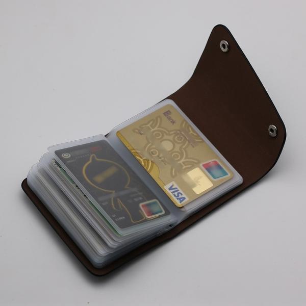 カードケース 20枚収納 全9色 磁気防止 レザー スリム カード入れ 男女兼用 kk1816|34618|05