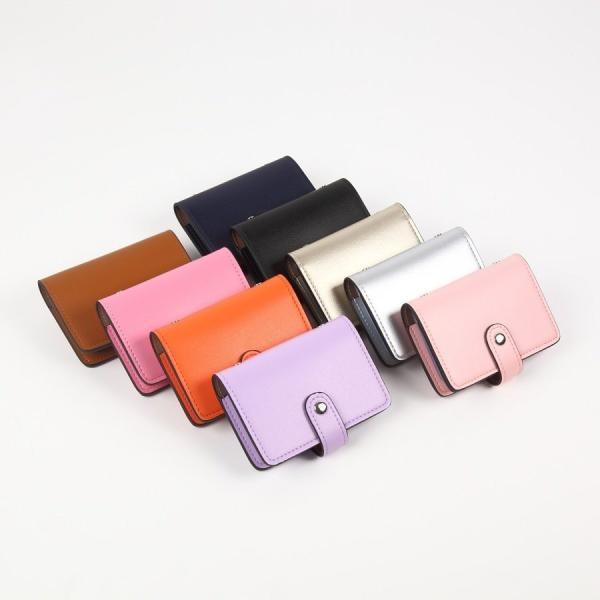 カードケース 磁気防止 薄型 レザー 大容量 カード入れ  全9色 22枚収納 男女兼用 ギフトケース付 プレゼント ハンドスピナー付属|34618|13