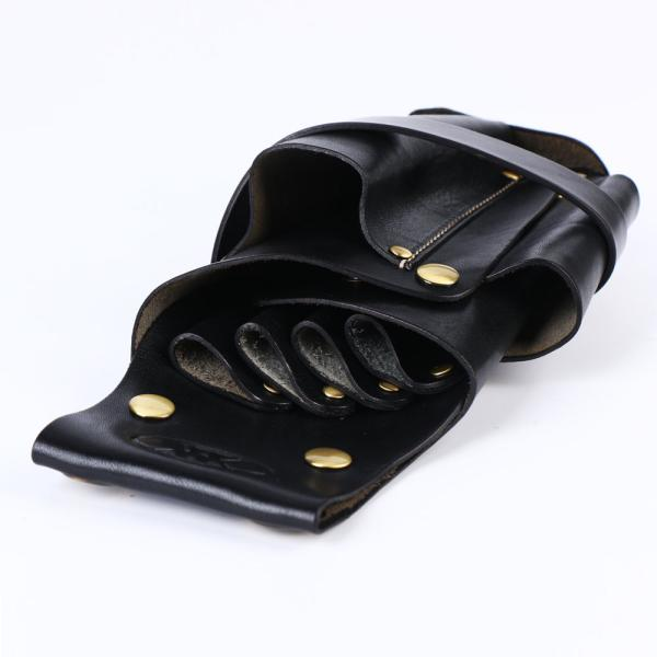 シザーケース 本革 4丁 美容師 理容師 トリマー用 シザーバッグ 本革ベルト付き 全五色 送料無料 019|34618|05