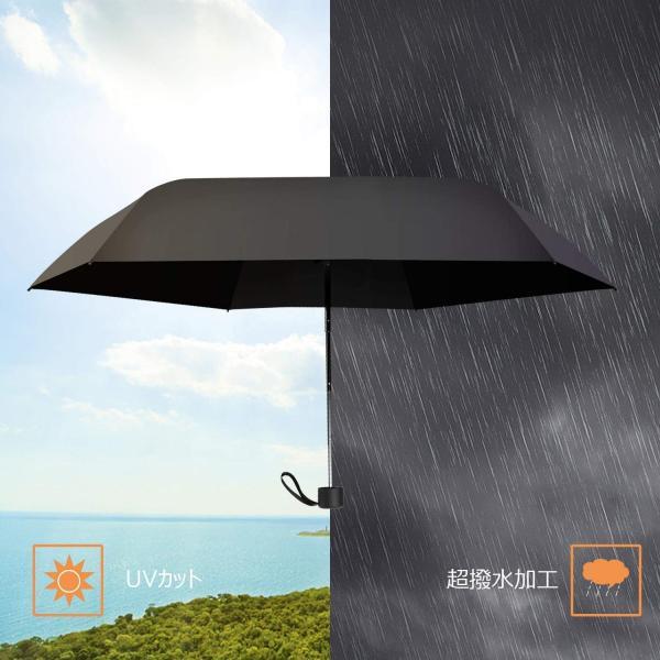 折りたたみ傘 超軽量(187g) 折り畳み日傘 UVカット率 99パーセント遮熱 晴雨兼用|34618|04