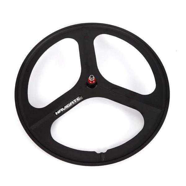 White 700c Fixie Fixed Gear 3-Spoke Single Speed Bike Front Mag Wheel Rim