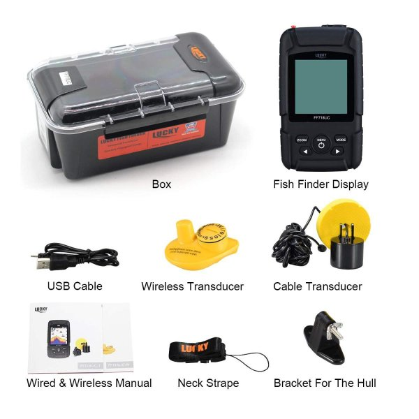LUCKY Fish Finder Wired & Wireless Portable Fishing Sonar for All Fish