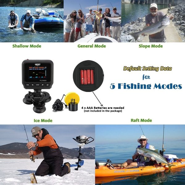 LUCKY Fish Finders for Boats Kayak Fish Finder Portable Saltwater Kaya