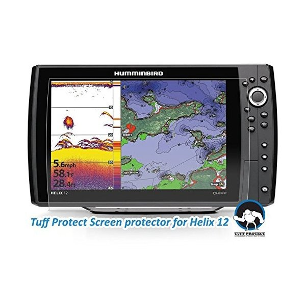 Tuff Protect Clear Screen Protectors for Humminbird Helix 12 Fish Find