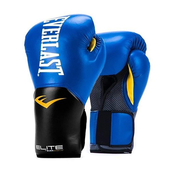 Everlast Elite Pro Style Pink 12 Ounce Boxing Gloves /& 120 Inch Black Hand Wraps